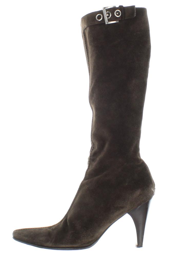 Cudoni   Prada Luxury Suede High Heel Boots   Cudoni 457e79a6ddd